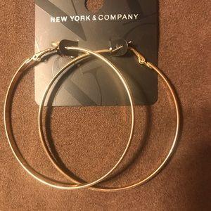 New York & Company Large Hoop Earrings